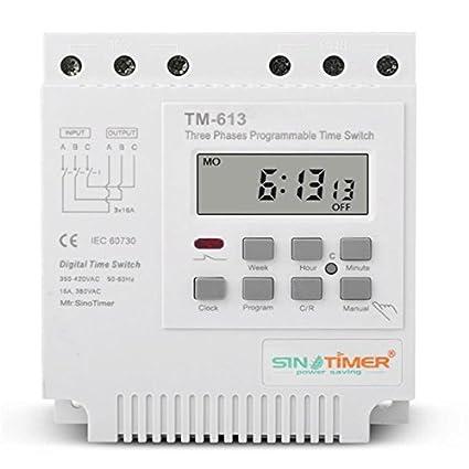 Sinotimer 380V Programable EsportsMJJ Control Del Temporizador De Alimentación Del Interruptor
