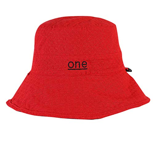 HYIRI on Foot Women Comfortable Protection Ladies Hat Cotton Foldable Sun Summer Cap Red]()