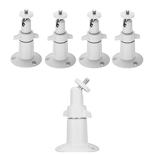 Arlo Camera Mounts (5 pcs Metal-Body/Shaft White) -