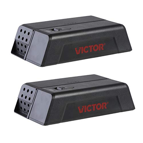Victor M250SSR-2 Electronic Mouse Trap-2 Pack, Black