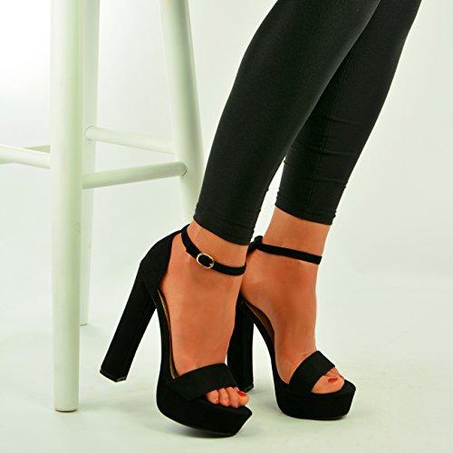 Cucu Zapatos De Fashion Mujer Negro Tacón rp5rFqwZ