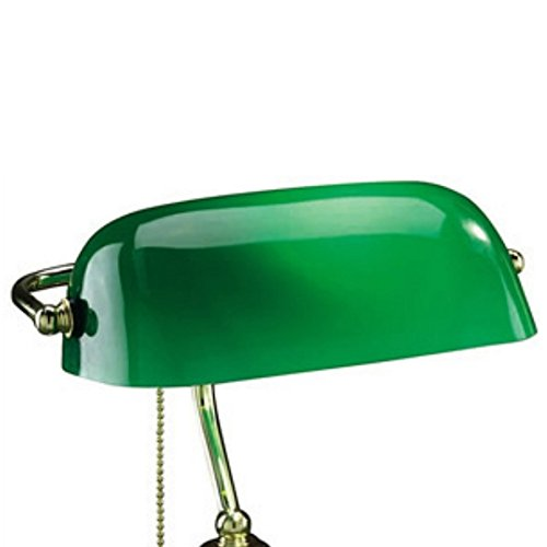 Upgradelights Replacement Glass Bankers Lamp Shade Green Desk - Ivory Shade Classic