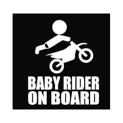 Keen Baby Rider On Board Decal Vinyl Sticker|Cars Trucks Walls Laptop|White|5.5 in|KCD492: Automotive
