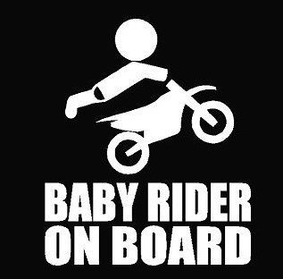 Keen Baby Rider On Board Decal Vinyl Sticker|Cars Trucks Walls Laptop|White|5.5 in|KCD492 ()