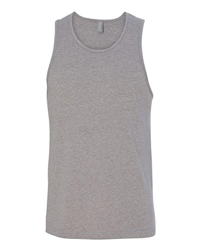Next Level Men's Rib-Knit Sublimated Muscle Tank Top_X-Large_Dark Heather Gray (Classy Outfits For Men)