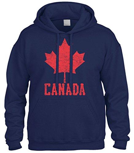 - Cybertela Canadian Flag Canada Maple Leaf Sweatshirt Hoodie Hoody (Navy Blue, 3X-Large)