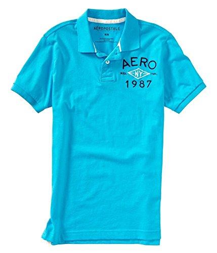 Aeropostale Mens N Y 1987 Rugby Polo Shirt Blue ()