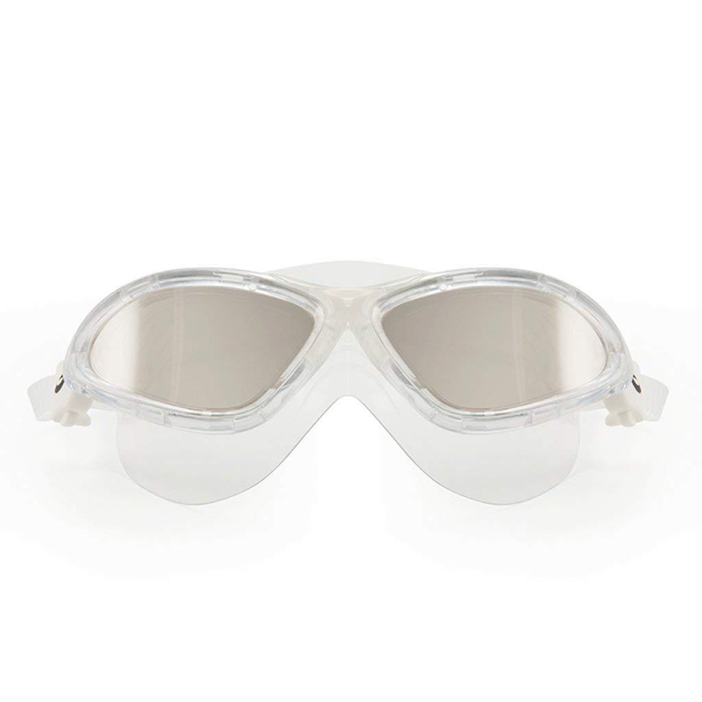 B J&LILI Swimming Goggles Swimming Goggles Men's Professional Waterproof Antifog Fashion Plating Unisex Goggles Water Sports,A