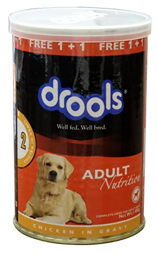 Drools Chicken Chunks in Gravy- Adult Dog Food , 400g – Tin Can (Special Offer_BUY 1 – GET 1 FREE)