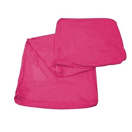 Fold Out Cube COVER ONLY, Single 3pc Foam Cube Mattress Cover In Fuchsia  Pink.