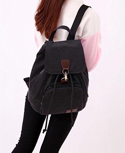 Eurcross - Bolso mochila  para mujer negro negro 30*15*40cm negro