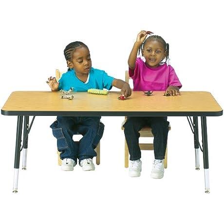 Kydz Activity Table Rectangle 30 X 48 15 24 Ht Oak School Play Furniture