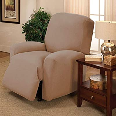 Amazon Com Tan Jersey Chair Stretch Slipcover Couch Cover Love