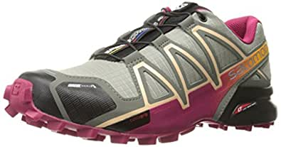 Salomon Speedcross 4 CS W, Zapatillas de Trail Running Para Mujer, Gris (Shadow/Sangria/Peach Nectar), 36 EU