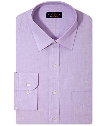 Club Room Mens One Pocket Micro Stripe Dress Shirt Purple 17