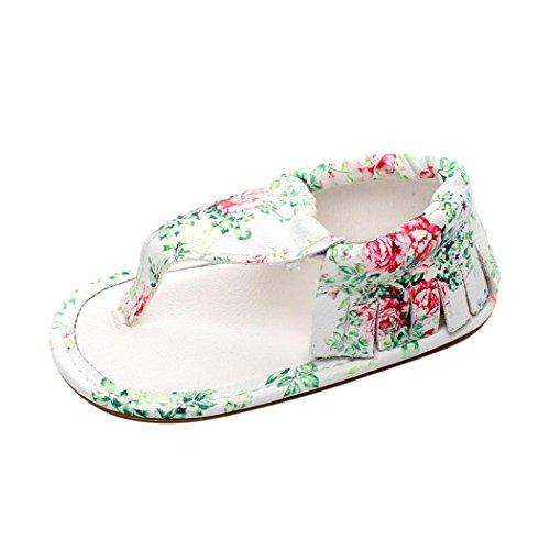 Prevently Baby Sandalen Baby Baby Mädchen Casual Fringe Sandalen Sommer Solide Einzel Krippe Hohle Schuhe Turnschuhe Mehrfarben1