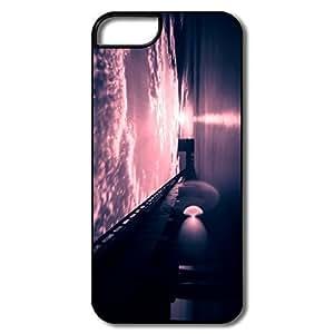 IPhone 5 Cases, Morning Light Cases For IPhone 5 - White/black Hard Plastic