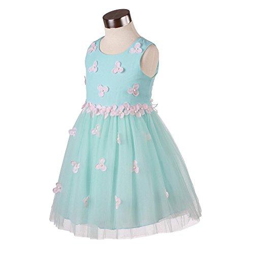 Super Cute Fashion Designer Flowers Girls Dresses For Party,Wedding,Pageant Size 4-12 (4, 011(blue)) (Designer Communion Dresses)