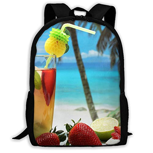 (Adult Casual Backpack School Bags Oxford Laptop Backpack Unisex Fruity Cocktail Travel)