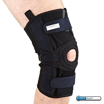b0dbcdb2e7 PhysioRoom Hinged Knee Brace - X Large Hot/Cold Gel Knee Ligament Support  Elite Pro