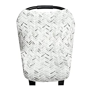 """Baby Car Seat Cover Canopy and Nursing Cover Multi-Use Stretchy 5 in 1 Gift""""Alta"""" by Copper Pearl"""