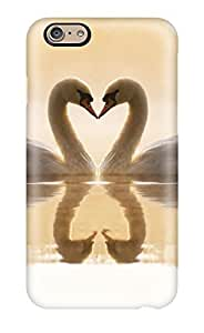 Iphone 6 Loving Swans Print High Quality Tpu Gel Frame Case Cover