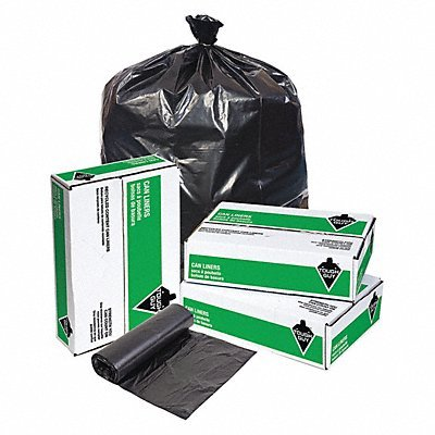 45 Gallon Blk Liner - TOUGH GUY Recycled Trsh Bags 40 to 45gal Blk PK100