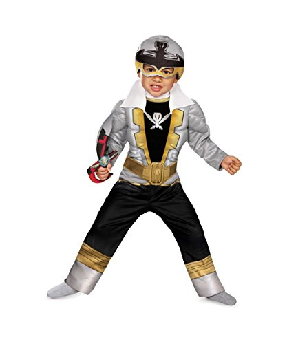 [Special Silver Ranger Super Megaforce Toddler/ Boys Muscle Costume - Small 4-6] (Power Rangers Megaforce Halloween)