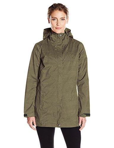 Womens Gravel (Columbia Women's Splash A Little Rain Jacket, Gravel Dotty Dye Print, Large)