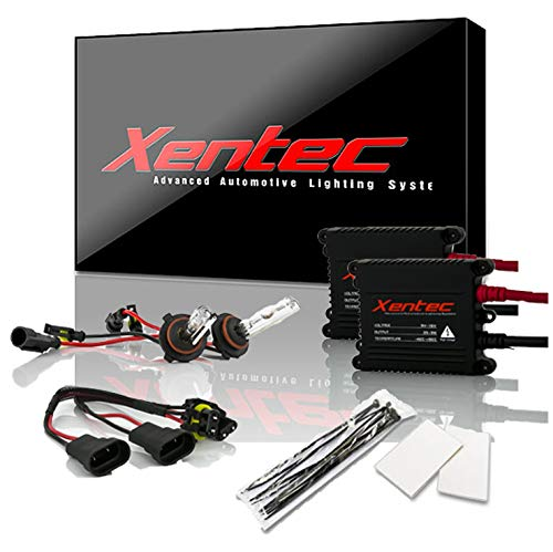 Xentec 9005 6000K HID xenon bulb x 1 pair bundle with 2 x 35W Digital Slim Ballast (Ultra White,...
