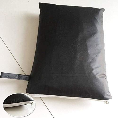 ファニチャー カバー 屋外用家具カバー屋外用パティオテーブルとチェアセットカバー防水保護カバー、ブラック シバオ (Size : 126x126x74cm)