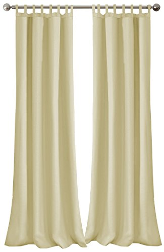 Elrene Home Fashions 26865643107 Indoor/Outdoor Solid Tab Top Single Panel Window Curtain Drape, 52