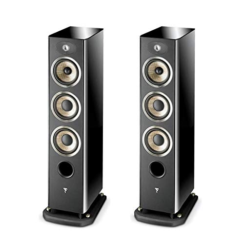 Focal Aria 926 3-Way Bass Reflex Floor Standing Speakers with 2X 6.5 Bass Driver, Black Piano Lacquer, Pair