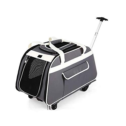 CB& Transportador de Mascotas Carretilla con telescópica Encargarse de, Portátil Perro Grande/Gato Viajar Bolso de Mano con...