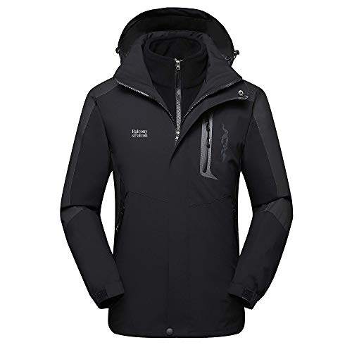 - Balcony&Falcon Men's 3 in 1 Jacket Mountain Waterproof Jackets Windproof Rain Jackets Thermal Jackets with a Thermal Liner