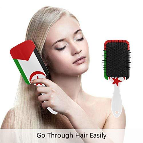 - Western Sahara Flag Hair Brush,Scalp Massage Hair Comb with Air Cushion