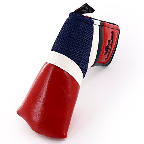Craftsman Golf Classic Red White Blue Blade Putter Cover for Scotty Cameron Odyssey (Red)