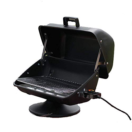 Highest Rated Top Selling Small Portable Inexpensive Table Top Camping Picnic Boating Electric Grill- 1500 Watt Heating Element- Perfect Size for Tailgating- Best Tabletop Electric BBQ Grill- Travel