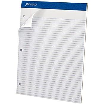 Amazon.com : Ampad Double Sheet Writing Pads, Narrow Ruled, Size ...