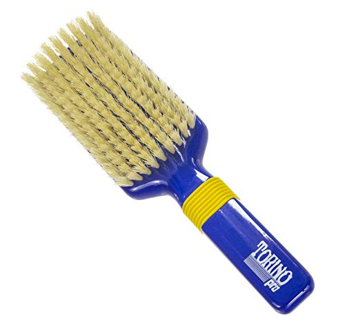 Torino Pro Wave Brushes By Brush King #35- Rubber grip 9 row Medium Vertical brush- Great for Connections - For 360 waves ()