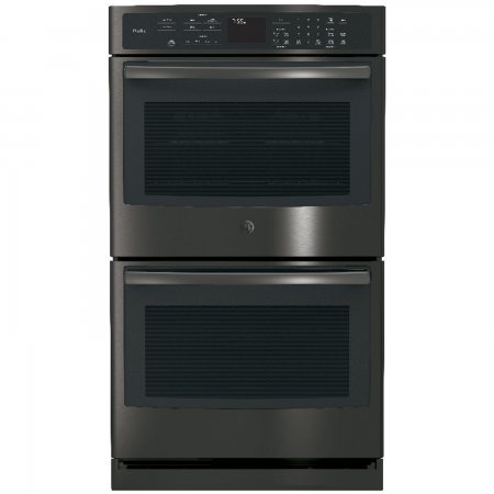 GE Profile PT7550BLTS 30 Inch Smart 10 cu. ft. Total Capacity Electric Double Wall Oven with 5 Oven Racks in Black Stainless Steel