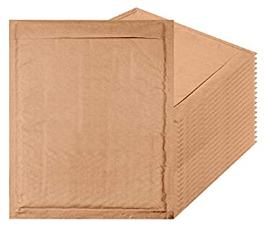 amazon com amiff natural kraft bubble mailers 8 5 x 11 brown padded