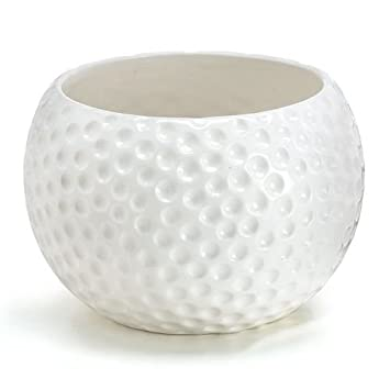 large ceramic golf ball container use as a planter candy dish or gift basket - Large Ceramic Planters