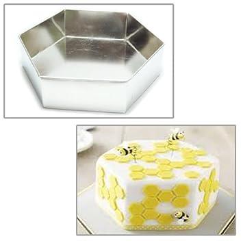 EURO TINS molde Hexagonal para tarta - molde para tarta individual de 30cm: Amazon.es: Hogar