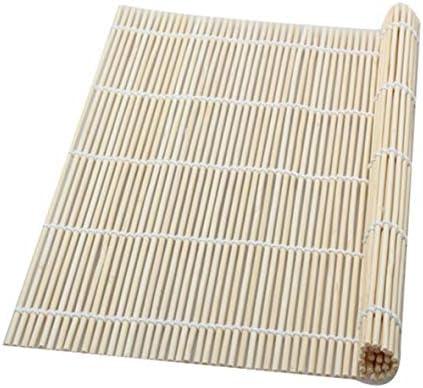 Tivollyff 寿司用ローリングマットDIYクッキングツール寿司ローリングローラーライスメーカー和食自然竹キッチンツール