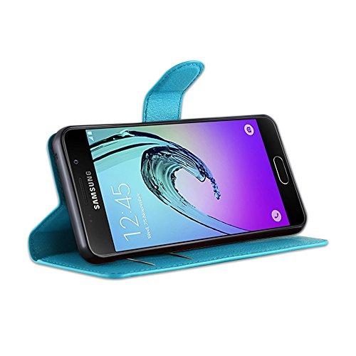 Cadorabo - Funda Samsung Galaxy A3 A310 (6) (Modelo 2016) Book Style de Cuero Sintético en Diseño Libro
