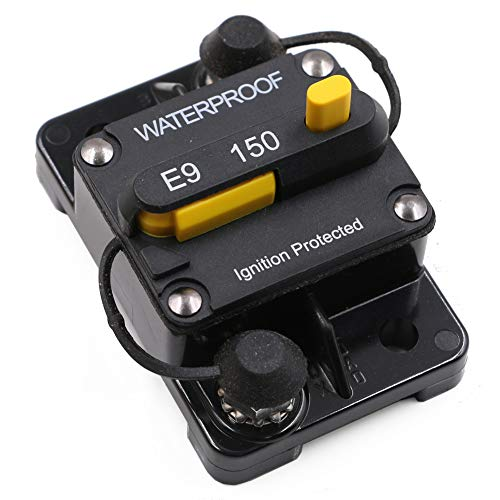 150 Amp Surface-Mount Circuit Breakers with Manual Reset, 12V- 48V DC, Waterproof