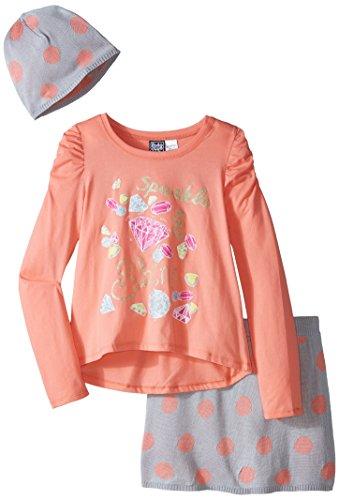 Pogo Club Big Girls Laura Skirt Set With Hat  Light Peach  Medium 10 12