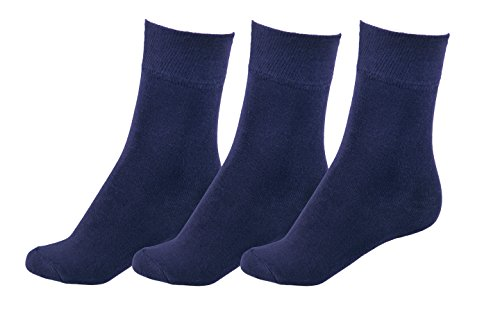 MOTIF SOCKS All Season WOMEN's Socks Bamboo Business Casual Soft Form-Fitting Comfort Shoe Size : 9-12 (Navy Blue) by Motif Socks