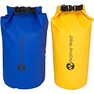 Lightweight Compression Dry Bag with Shoulder Strap and Roll Top Closure System. Waterproof Floating Gear Sack for Boating, Kayaking, Fishing, Rafting, Camping, Hiking, and Rafting.